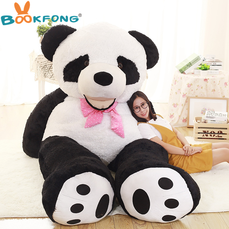 BOOKFONG 130cm plush panda plush toys large stuffed plush animal panda Doll lovely panda toy birthday gifts for kids stuffed plush animals large peter rabbit toy hare plush nano doll birthday gifts knuffel freddie toys for girls cotton 70a0528