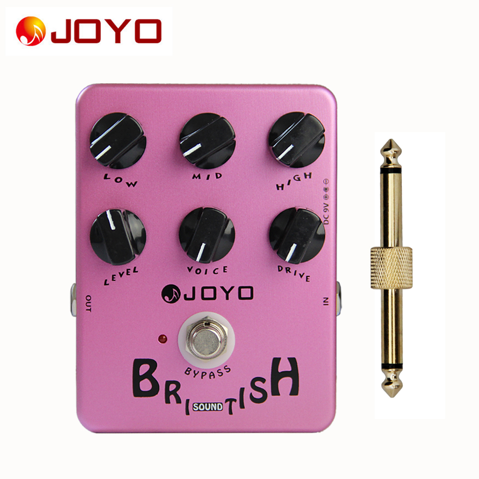 JOYO JF-16 British Sound True Bypass Design Effect Pedal for Guitar +1 pc Pedal Connector Electric Guitar Accessories joyo guitar effect pedal british sound effect pedal marshall amps simulator jf 16
