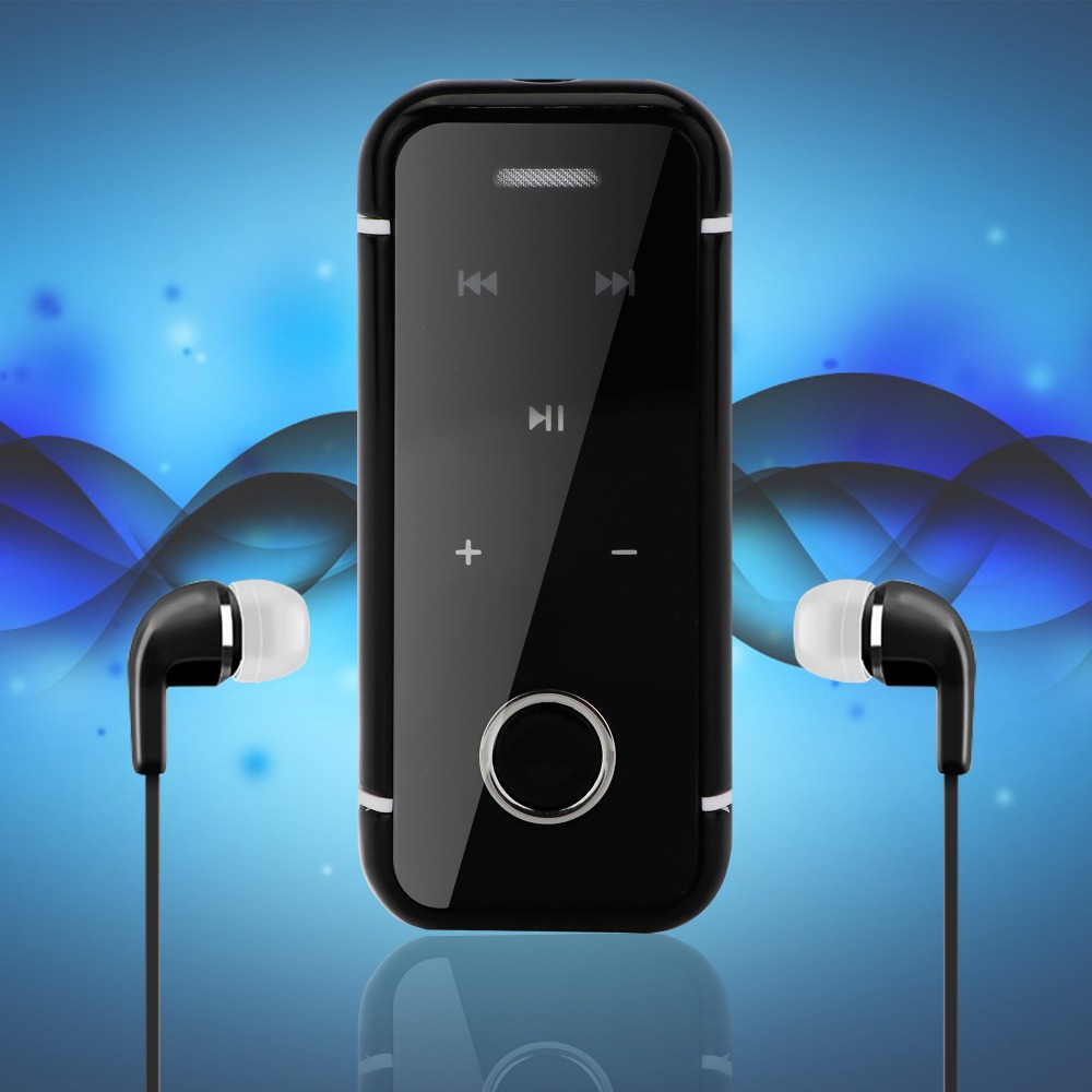 Bluetooth Headset Clip On Earphones Headphones Lavalier Bluetooth Headset with Mic Universal for iPhone 7 Samsung