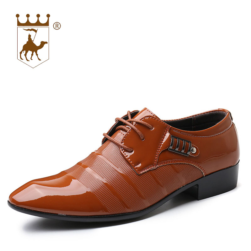 BACKCAMEL Italian Designer Mens Dress Shoes Flat Lace Up