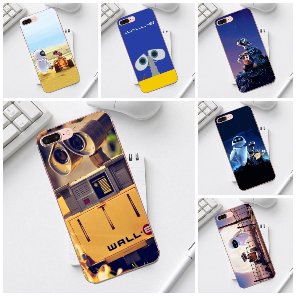 Buy Cool Wall-e Robot Soft TPU New Arrival For iPhone X XS Max XR 4 4S 5 5C SE 6 6S 7 8 Plus Galaxy A3 A5 J1 J3 J5 J7 2017 image