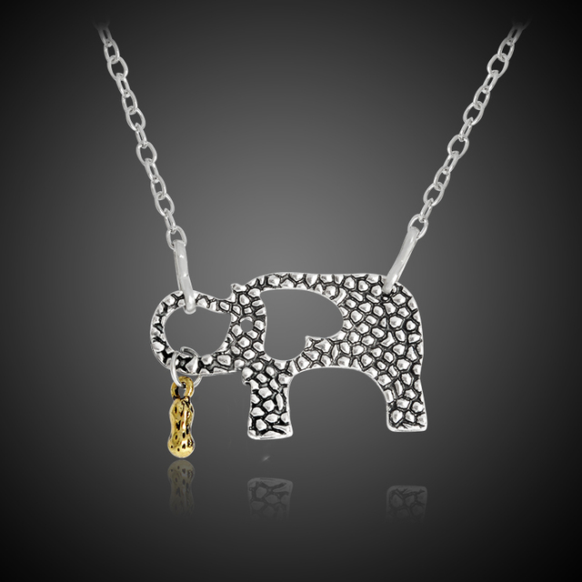 Elephant and her little peanuts necklace animal pendant silver color elephant and her little peanuts necklace animal pendant silver color necklaces for mom mother motherhood love mozeypictures Gallery
