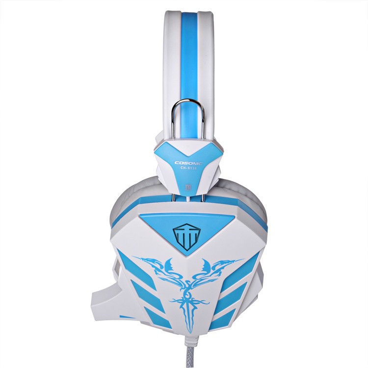 Cosonic CD-618 40mm Driver Unit Two-channel Stereo Gaming Headset Headphones with Volumn Control Mic LED Light for PC Computer (13)