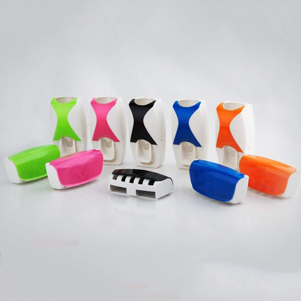 Automatic Toothpaste Dispenser Toothbrush Holder Sets Toothbrush Family Set Household Items Bathroom Accessories Sets Products household mouth shape 2pcs toothpaste squeezers