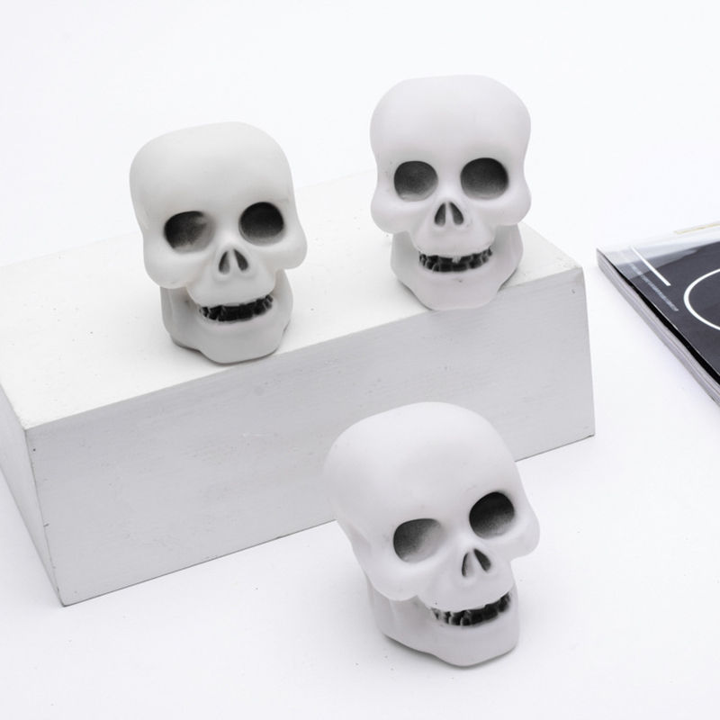 24610 Pcs LED Night Light 7 Color Changing Skull Shape Lamp Halloween Party Decoration --M25