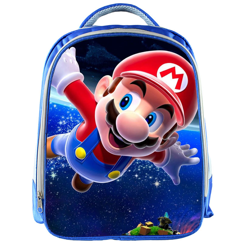 13inch Super Mario Backpack School Bags Cute Game Printed School Back Pack For Girls Boys Bookbag Children Gift Customized