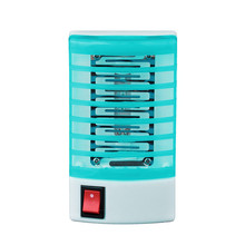 Mosquito Fly Kill Electronic LED Cushion Portable Socket Electric Mosquito Fly Bug Insect Trap Killer Zapper Night Lamp Lights
