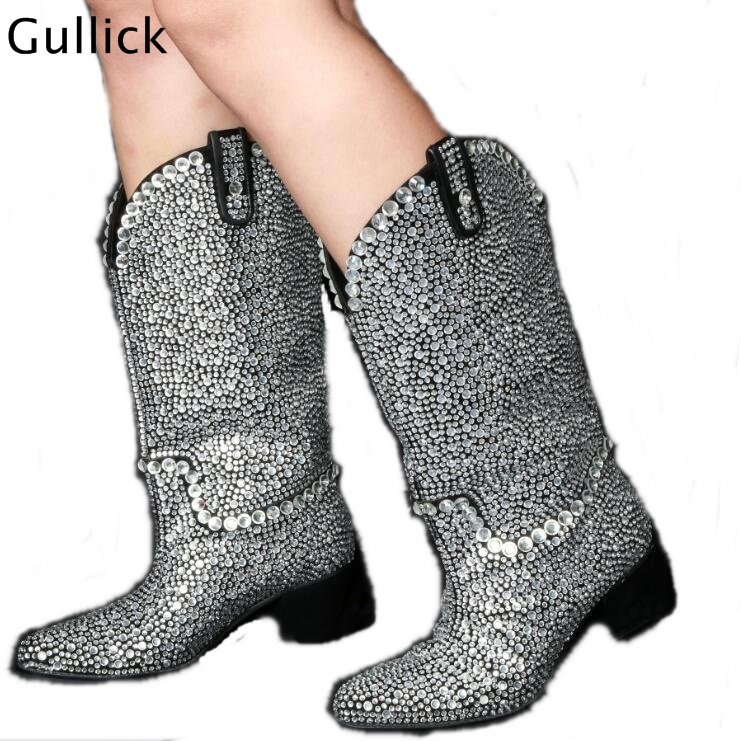 mollet Botines Cristaux Ronde Femme v Slip As Mi Luxueux Embelli Picture Bottes Accrocheur Profonde Sur Bout Date Mujer Ruban xgqZYwfp