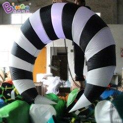 Darmowa dostawa wedding party dekoracyjne oświetlenie LED 1.5 M nadmuchiwane półksiężyc na sprzedaż dostosowane half moon lignt-up zabawki