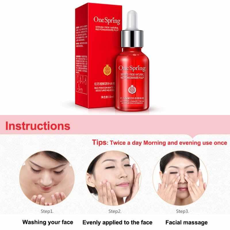 تبييض الجلد كريم جوهر مكافحة الشيخوخة حمض الهيالورونيك السائل الرمان ترطيب يقلل المسام اشراق الوجه