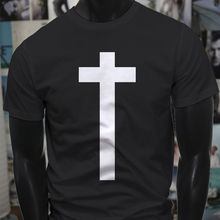 Christ Christian Jesus Cross Religious Simple Mens Black T-Shirt  Free shipping Tops t-shirt Fashion Classic Unique gift