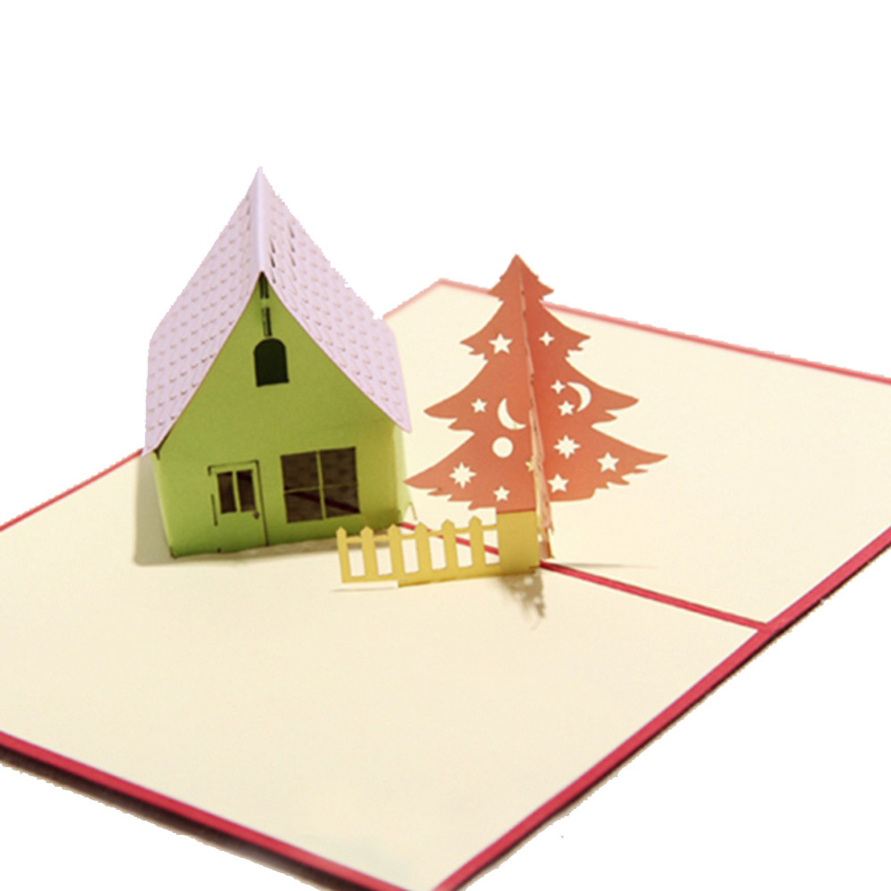 Сделать дом в открытке, картинки