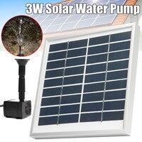 3W Solar Panel Powered Submersible Fountain Pump Water Pond Kit Garden Fish Tank