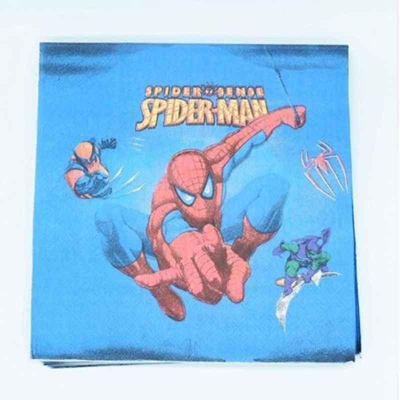 Superhero party supplies avenger spiderman batman superman ผ้าปูโต๊ะทารกฝักบัวอาบน้ำเด็กวันเกิด party ตกแต่ง