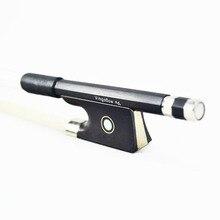 Бесплатная доставка 4/4 Размеры Черный углеродного волокна Скрипка Лук хорошее качество черная лягушка Белый Скрипка Лук волос 100 В