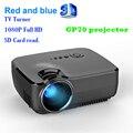 GP07 3D Портативный Мини HDMI 1080 P Проектор 1800 Люмен 800x480 Full HD LED Видео Домашний Кинотеатр Поддержка 16:9 ТВ-тюнер