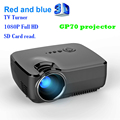 GP07 3D Mini Portable HDMI 1080P Projector 1800 Lumen 800 x 480 Full HD LED Video Home Cinema Support 16:9 TV tuner