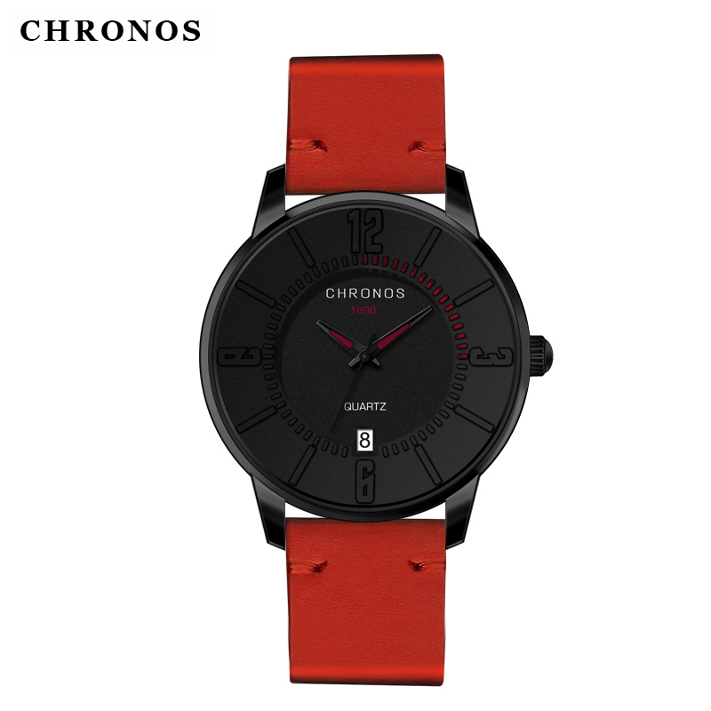Prix pour Étanche montres hommes chronos casual quartz montres sport date horloge relogio masculino hommes montres top marque de luxe 2017
