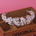 Qualidade noiva cabelo acessório artesanal pérola de noiva se casou com strass cristal acessório de cabelo macio