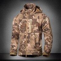 Outdoor Men Soft Shell Tactical Jacket Winter Plus Size Waterproof Hiking Sport Coat Male Waterproof Army
