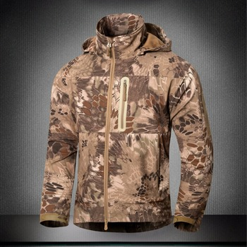 Outdoor new style Men's Shark skin Soft Shell Army Tactical Waterproof Hiking climbing Coats Windbreaker Jacket Outerwear Male