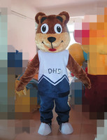 2017 adult and the bear mascot costume