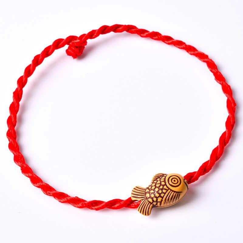 Venda 2019 moda por atacado vários estilos fio vermelho string pulseira corda sorte pulseira para mulheres amante casal presente