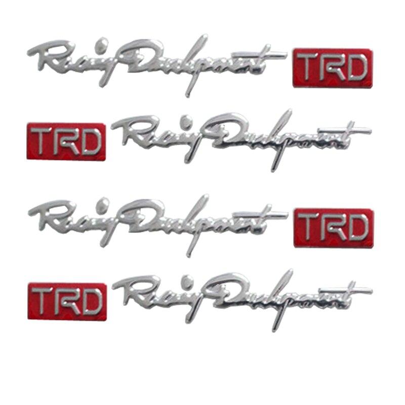 Universal 4Pcs//set TRD Door Handle Racing Development TRD Logo Car Body Sticker