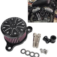 CNC Air Cleaner+Intake Filter System RC Case for HD Harley Davidson Sportster XL 883 1200 2004-UP Air Filter for Rough Crafts
