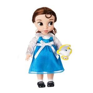 Image 2 - ディズニー 10 スタイルプリンセスアクションフィギュアおもちゃベルシンデレラ白雪の妖精ラプンツェル人形アリエル人形装飾の子供のギフト