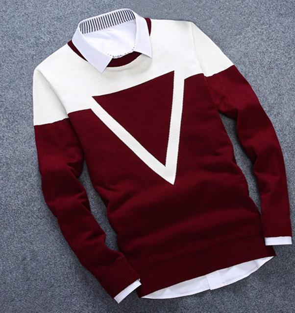 3 Colors Winter Man's Thick Sweater  2