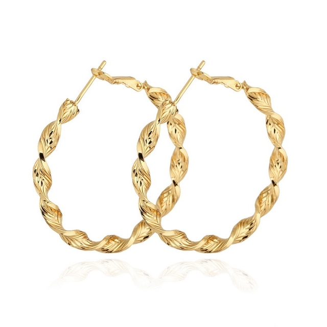 4cm Circle Creole Gold Color Bamboo Earrings For Women Hoops Brinco Round Basketball Wives Large