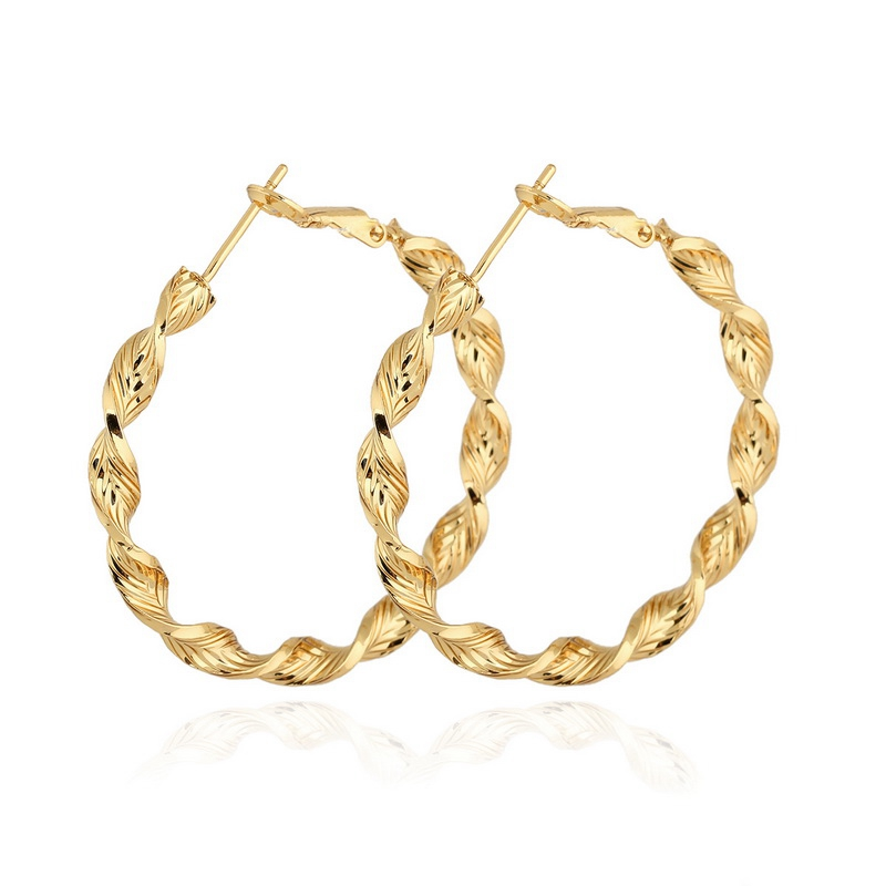 4cm Big Circle Creole Gold color Bamboo Earrings For Women Hoops Brinco Round Basketball Wives Large Hoop Earrings Ladies
