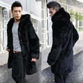 2016 new men's winter imitation mink fur fur jacket warm long hooded imitation mink coat