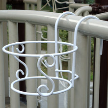Hanging Hanging Flower Frame for Outdoor Fence Decor Racks Railing Fence Flowerpot(China)