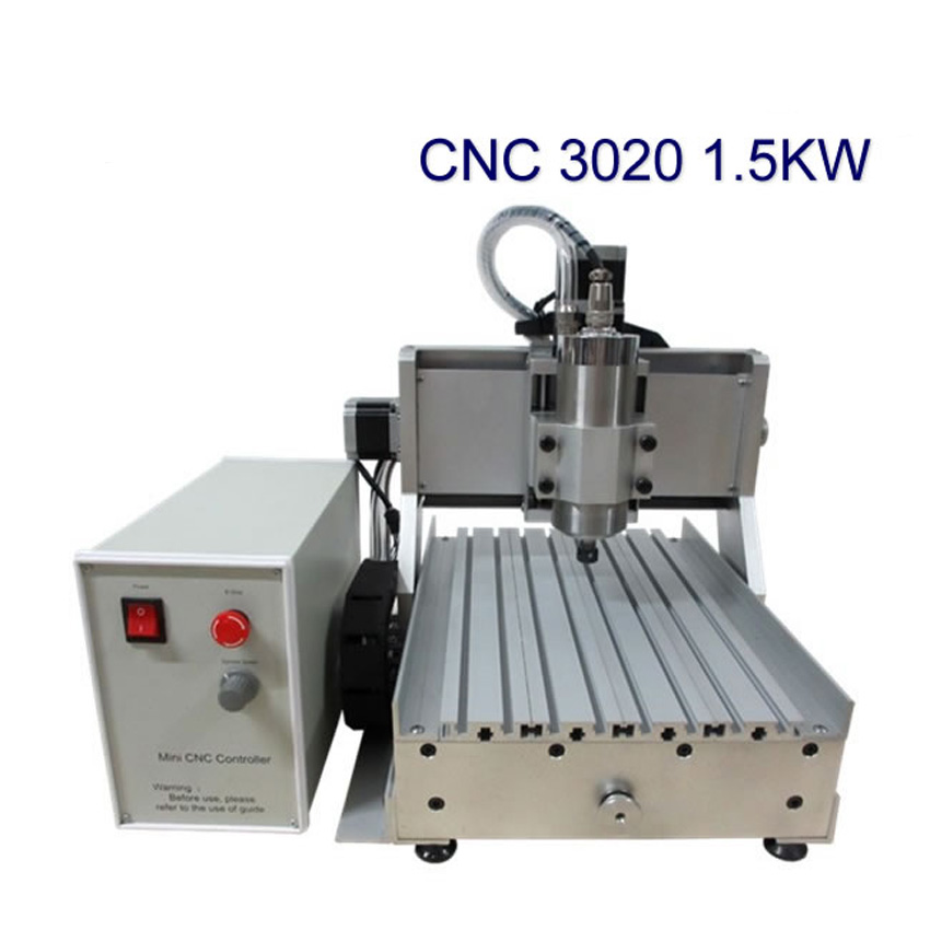1pc LY CNC 3020 Z-VFD1.5KW 3 axis water cooling spindle PCB wood engraving machine milling router stylish plunging neck 3 4 sleeve see through lace dress for women