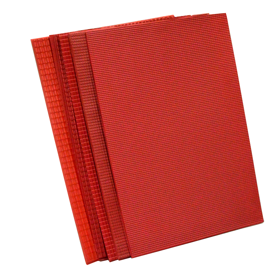Image 3 - new 210x300mm architecture model matrials PVC tile roofs plastic scale 1/25 100 model pvc red sheetarchitecture modelplastic pvc sheetpvc plastic sheet -