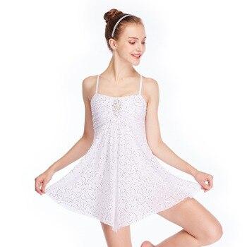 MiDee Full Sequins Lyrical Dresses Dance Costumes