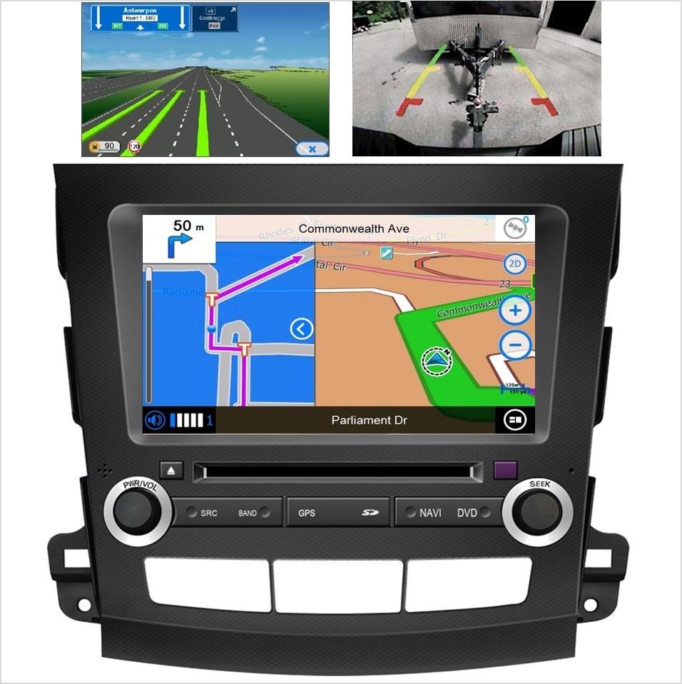 Android car multimedia stereo for peugeot 4007v for citroen c crosser radio dvd player gps