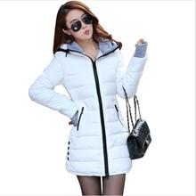 Women's cotton-padded jacket 2019 winter medium-long down cotton plus size jacket female slim ladies jackets and coats