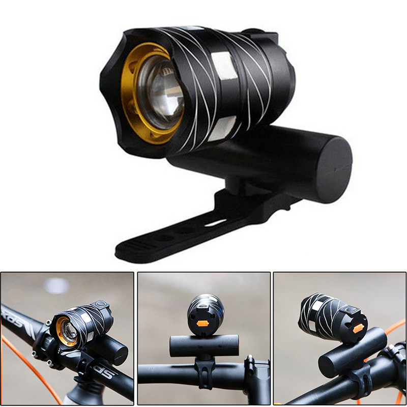 USB Rechargeable T6 Zoom LED Bicycle Bike Light Front Rear Cycling Lights Torch Handlebar Flashlight <font><b>Lamp</b></font> Accessories