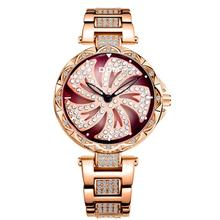 DOM Women Rotate Fashion Diamond Waterproof Quartz Watch (3 colors)