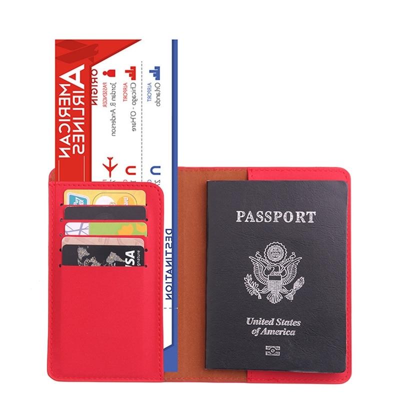 Travel Passport Cover Women Russia Passport Holder Organizer Travel Accessories For PU Leather Document Passport Holder Bag T030