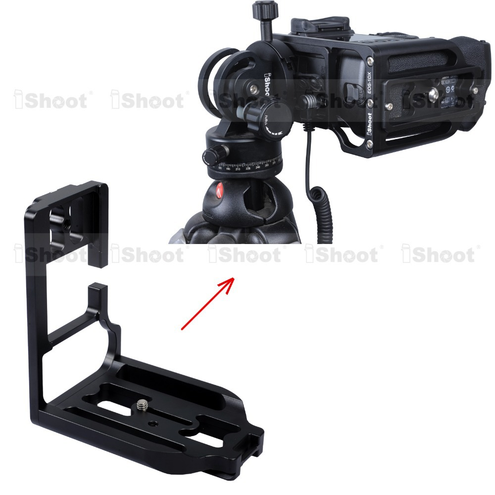Removable Metal L-shaped Vertical Quick Release Plate/Camera Holder Bracket Grip for Canon 1DX Tripod Ball Head HOT ITEM