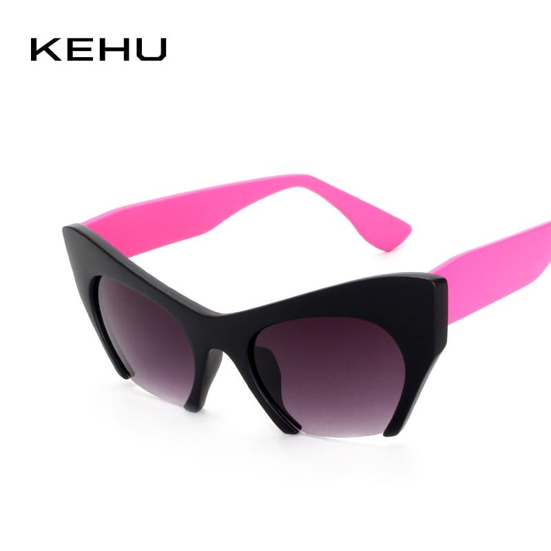 5d1079a8ccbcf KEHU máscaras de proteção Moda Sol Óculos De Sol Novos Do Vintage Cat Eye  Sunglasses Mulheres Marca Designer Retro Óculos Mulheres Óculos K9143