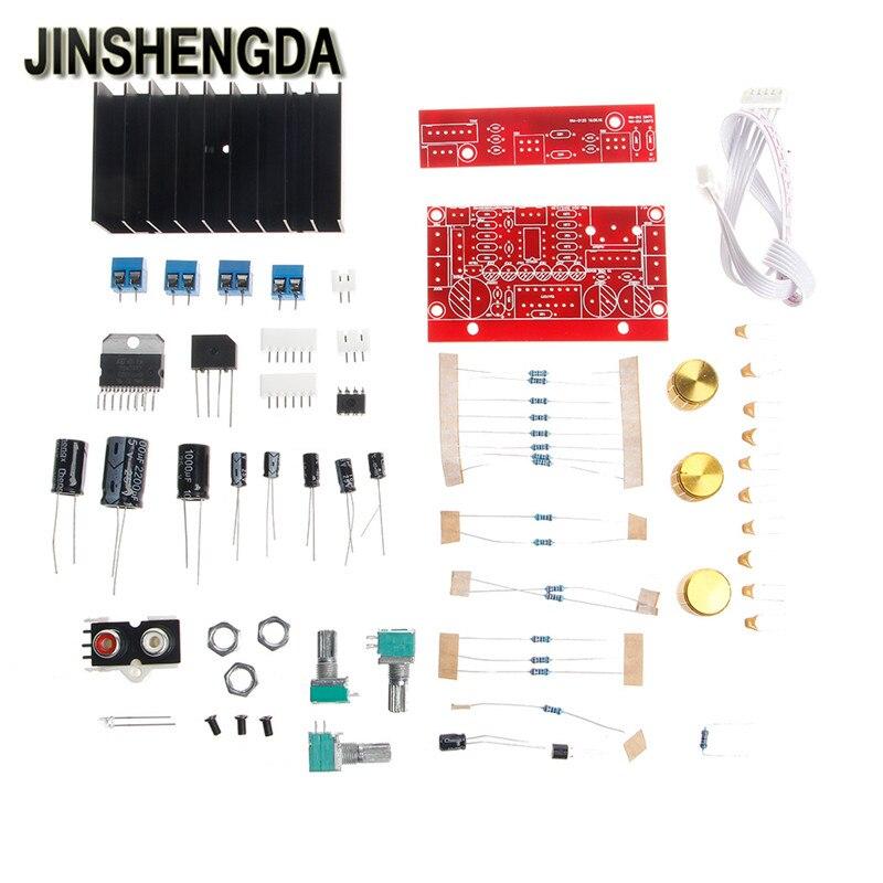 JINSHENGDA מגבר TDA7377 מגבר כוח 2.1 ערכה 3 ערוץ סאונד אודיו DIY AMP המועצה 12-18 V DC