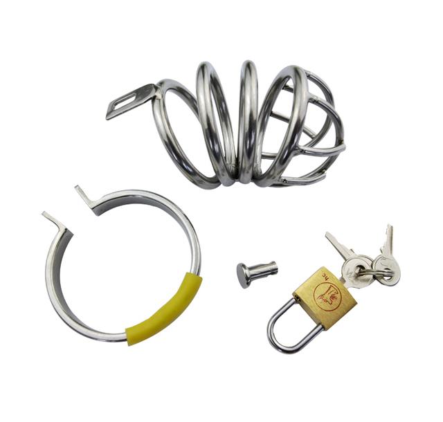 Aço inoxidável cinto de castidade masculino dispositivo de castidade caralho gaiola masculino penis bloquear cinto de metal cb brinquedos do sexo produto do sexo pênis anel