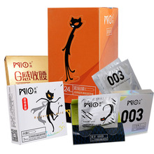 MIO 33Pcs/Pack Multiple Types Close Fit Small Size 49mm Ultra Thin Condoms Dotted Thread Pleasure for Men