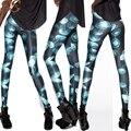 2015 женщин леггинсы брюки фитнес Внеземной Национальный флаг Сова кошки 3D печати легинсы панк jeggings легинсы