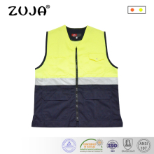 High Quality Workwear Mens Work Reflective Vest Safety Jacket